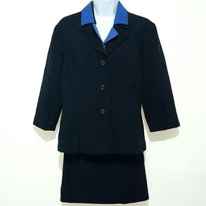 Womens Suits Us navy blue suit jacket and skirt